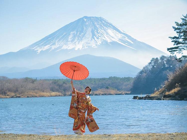 富士山 和装-3
