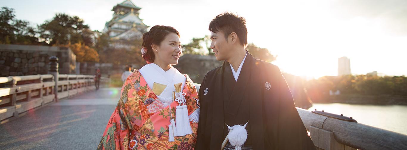 DE & Co. Decollte Wedding Photography in Japan. A Japanese Wedding Photo Studio.   德可莉日本專業婚紗攝影   Osaka   大阪   Falling for you   留戀於你